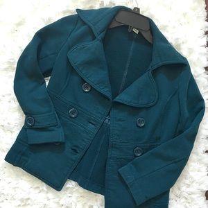 Turquoise Pea Coat